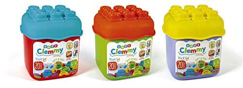 Clementoni 14741 Clemmy bouwstenen, kleurrijke soft-blok-set, zacht motoriek, babyspeelgoed om vast te grijpen en te bijten, 20 blokken voor peuters vanaf 6 maanden
