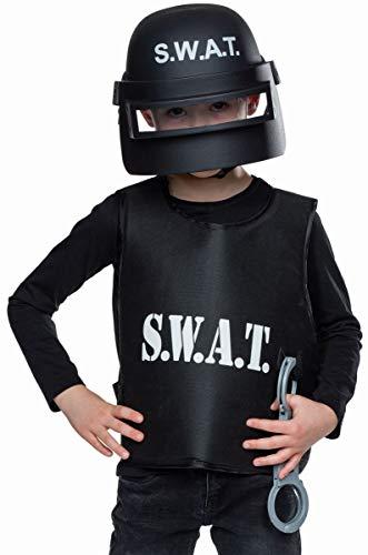 Mottoland Accesorios para disfraz de S.W.A.T. Casco de polica para nios
