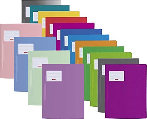 Brunnen | 12 + 4 Schnellhefter FACT!pp (A4, aus transluzentem PP, mit Namensschild, mit Einstecktasche innen) 12 Grundfarben + 4 Pastellfarben