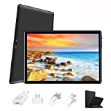 Tablet 10 Pulgadas 4G FHD 64GB de ROM 4GB de RAM Android 9.0 Certificado por Google GMS Tablet PC Baratas Procesador de Quad Core Batería 8500mAh Dual SIM 8MP Cámara WiFi,Bluetooth,GPS,OTG(Negro)