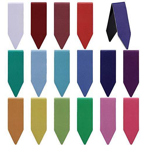 VETPW 32 Piezas Flecha en Forma Marcadores de Libro Magnéticos, Magnetic Bookmarks Set, Vistoso Marcapáginas Clip de Página para Estudiantes Oficina Suministros de lectura, Color Puro