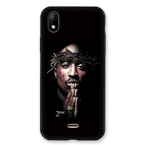 Carcasa para Wiko Y61 2Pac Tupac Shakur, Color Negro