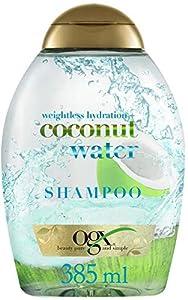 OGX, Champú Hidratante de Agua de Coco, Cabellos Deshidratados, 385 ml