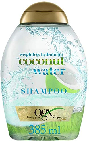 OGX, Champu Hidratante de Agua de Coco, Cabellos Deshidratados, 385 ml