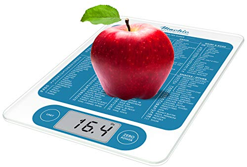 Mackie C19 Food Scale, Digital Kitchen Scale Weight Grams and Oz Fast Simple 1g / 0.1 oz Accurate 13lbs Max For Cooking Baking Meal Prep Diet Health (0.1 Ounce Diet Scales)
