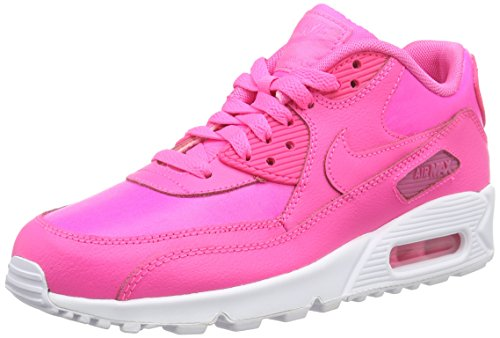 Nike Damen AIR MAX 90 LTR (GS) Sneakers, Pink 600 Pink Pow Pink Pow, 37.5 EU
