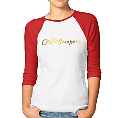 DOORER The Chainsmokers Logo Roses #Selfie Women Half Sleeve T Shirt