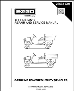 EZGO 28572G01 2000 Technician's Repair and Service Manual for Gas ST350/Sport Utility Vehicle