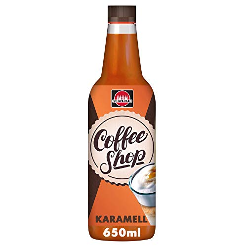 Schwartau Coffee Shop Caramel, Kaffeesirup, 6er Pack (6 x 650 ml)