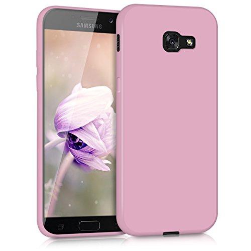 kwmobile Funda Compatible con Samsung Galaxy A5 (2017) - Carcasa de TPU Silicona - Protector Trasero en Rosa Palo Mate
