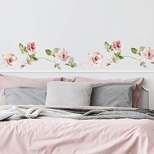 Estilo Flores Vid Etiqueta De La Pared Dormitorio Decoración Del Hogar Sala De Estar Rodapié Papel Tapiz Extraíble Pegatinas Autoadhesivas