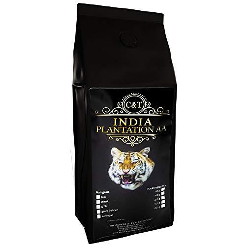 Kaffee Globetrotter - Echte Raritäten (Ganze Bohne, 1000g) India Plantation AA - Raritäten Spitzenkaffee - Werden Sie Zum Entdecker!