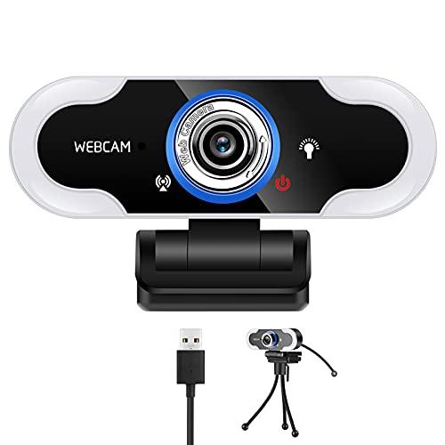 Pokzon Webcam HD 1080P Webcam Pro Webcam Réglable Webcam gaming Webcam Pour Ordinateurs Portables et Tablettes Webcam Pro