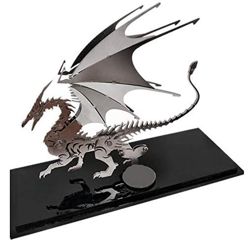 Wollet Dragon Assembly DIY Metal Models Model Kits for Adults to Build Stainless Steel (fire dragon)