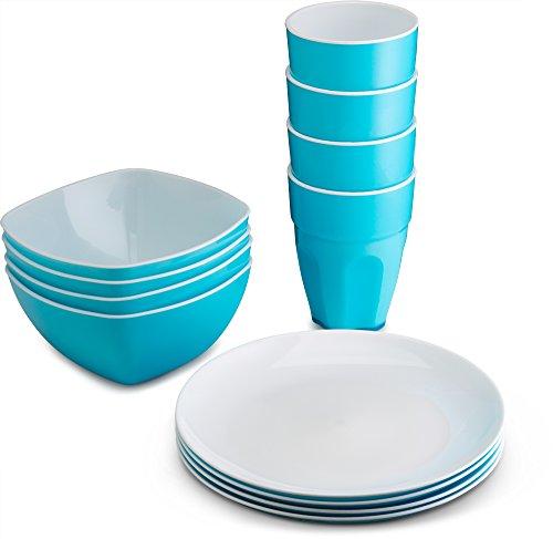 PLASTI HOME Reusable Plastic Dinnerware Set (12pcs)