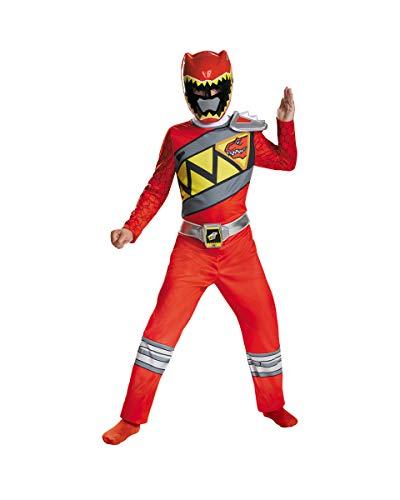 Horror-Shop El Power Ranger Rojo Dino Carga El Disfraz De Niño 10-12 Jahre