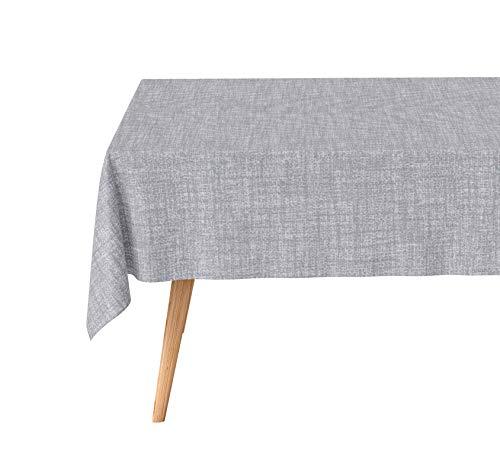 Basic Home Tovaglia antimacchia rettangolare tinta unita colore grigio chiaro 140x240 cm