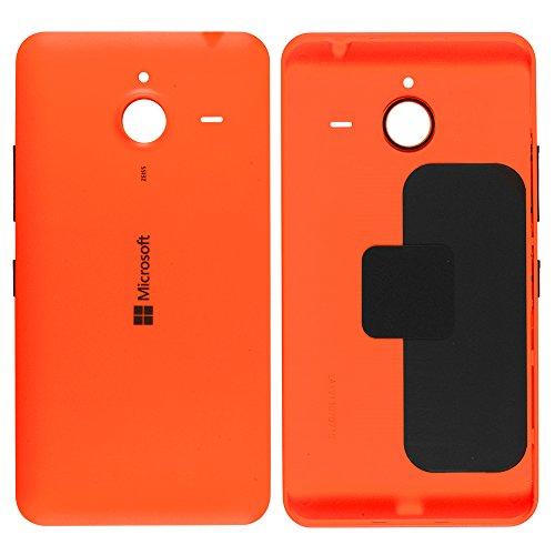 Original Microsoft Akkudeckel orange für Microsoft Lumia 640 XL (Akkufachdeckel, Batterieabdeckung, Rückseite, Back-Cover) - 02510P9