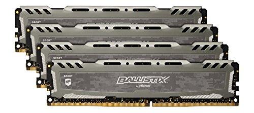 Crucial Ballistix Sport LT 32GB (4 x 8GB) DDR4-2400 32GB DDR4 2400MHz geheugenmodule