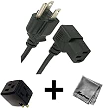6FT Right Angled AC Power Cord for Compaq Presario CQ5000 Desktop PC Series + 3 Outlet Adapter