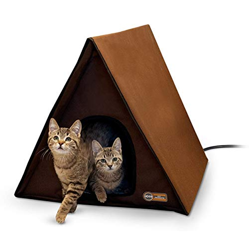 K&H Pet Products Outdoor Multi-Kitty A-Frame Chocolate 35 X...
