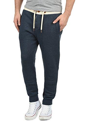 !Solid TripPant Herren Jogginghose Sweatpants Sporthose mit Tunnelzug aus hochwertiger Baumwollmischung Slim Fit Meliert, Größe:XXL, Farbe:Insignia Blue Melange (8991)