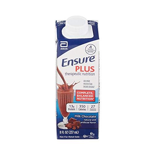 Ensure Plus Milk Chocolate, 8 Ounce Recloseable Carton, Abbott 64911 - Case of 24