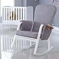 Compact design whilst not scrimping on comfort Gentle rocking motion Removable and well-padded armrests Seat and back padded