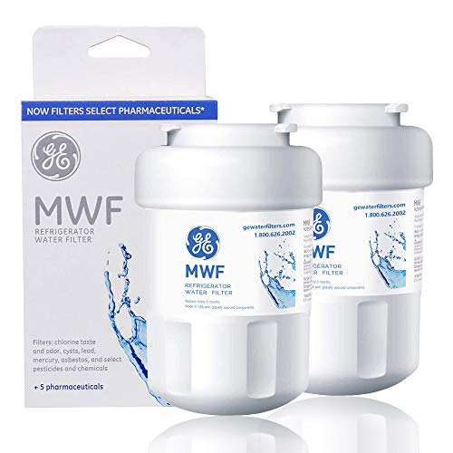 MWF Water Filter for GE Refrigerator 2packs Smart Water Filter Replacement Compatible with MWF, MWFINT, MWFP, MWFA,GWF, GWFA,46-9991