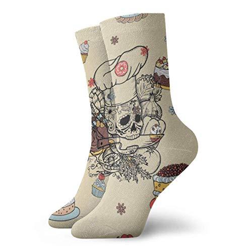 N/A High Performance Kurzsocke,Business Socken,Anzug-Socken,Tennissocken,Dessert Kuchen Snack Männer Frauen Langlebige Sport Sport Socke Für Walking Wandern Erholung