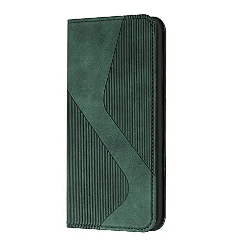 JZ Galaxy A71 4G Green Splicing Diagonal Triangle Funda For para Samsung Galaxy A71 4G Solid Color S Shape Flip Cover