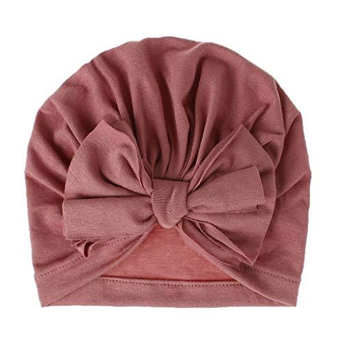 Alwayswin Baby Mädchen Kopfbedeckung Badehut Indian Bowknot Hut Mode Einfarbig Niedlichen Hut Kopftuch Kappe Dekorative Mütze Baby Herbst und Winter Bogen Hut Winter Warme Mütze
