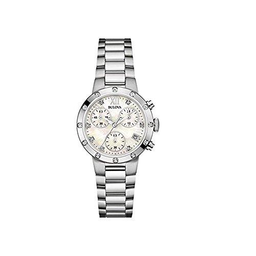 Orologio Cronografo in acciaio inox Bulova Diamond 96W202