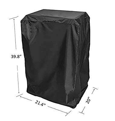 BBQ funland 40- Inch Cover for Masterbuilt Electric Smoker and others, Black