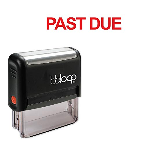 Past Due w/Bold Block Style Font and Design Self-Inking Rubber Stamp