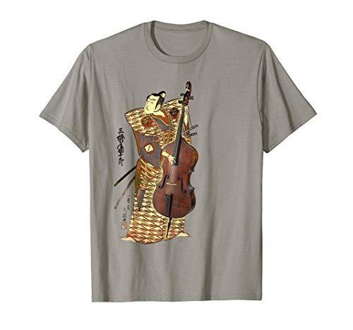 Retro Double Bass Funny Jazz Instruments Music Camiseta