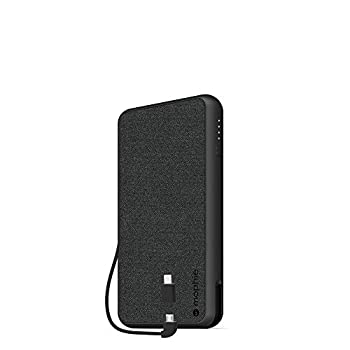 mophie 401101663 Powerstation Plus XL  10,000mAh  - Qi Wireless Charging with Built in Micro USB and Lighning Cables - Black
