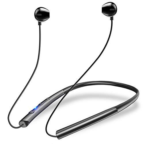 【24時間連続駆動 Bluetooth5.0 】Bluetooth イヤホン スポーツ用 ワイヤレス イヤホン 低音重視 Hi-Fi 自動ペアリング ブルートゥース イヤホン マグネット搭載 マイク内蔵 ランニング用 ハンズフリー通話?CVC8.0ノイズキ