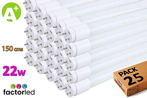 FactorLED LED-buis, 22 W, glas, 150 cm, rond, 300 cm, binnenverlichting, plafondlampen, 30.000 uur levensduur, 2880 lm, 2 jaar garantie