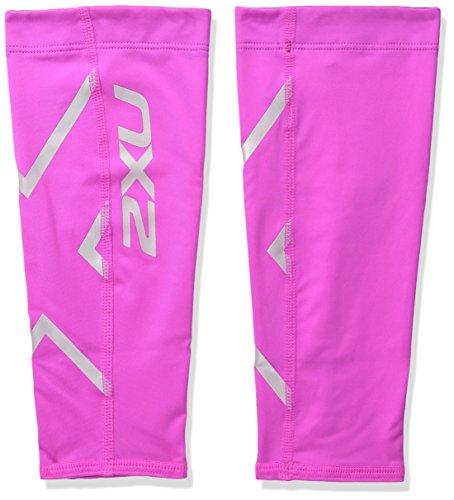 2XU Compression Calf Guards, Hot Pink/Hot Pink, Small