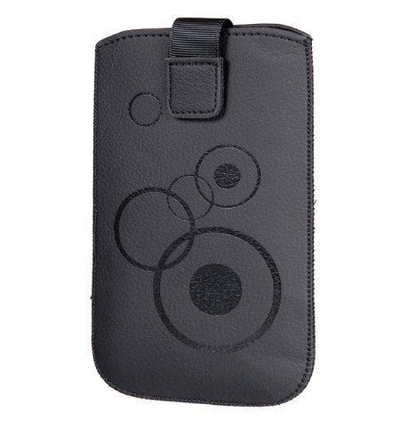 Handytasche Circle passend für Motorola Moto G (3.Generation) Handy Schutz Hülle Slim Hülle Cover Etui schwarz