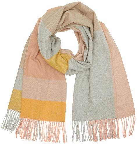 PIECES PCJIRA Wool Scarf Noos Sciarpa, Checks: W Naturale NGOL-LGRM/Misty Rose, Taglia Unica Donna