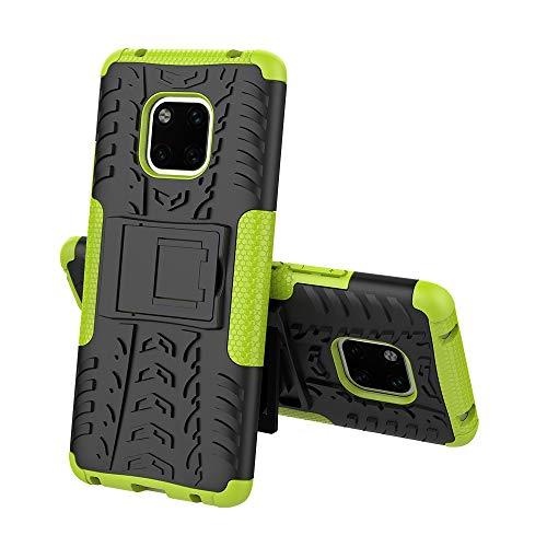 XINYUNEW Funda Huawei Mate 20 Pro, 360 Grados Protective+Pantalla de Vidrio Templado Caso Carcasa Case Cover Skin móviles telefonía Carcasas Fundas para Huawei Mate 20 Pro-Verde