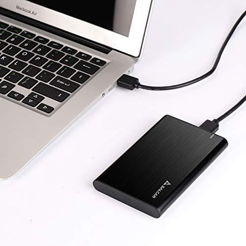 Salcar USB 3.0 Festplattengehäuse 2,5 Zoll Externes Gehäuse UASP Festplatte Gehäuse Case für 9.5mm 7mm 2.5