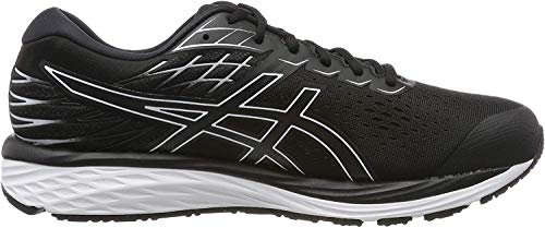 ASICS Herren Gel-cumulus 21 Running Shoe, Black/White, 44.5 EU