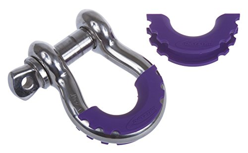 Daystar, Purple D-Ring Shackle Isolator pair, protect your bumper and reduce rattling, KU70056PR, Made in America