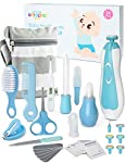 OTTOLIVES Baby Healthcare and Grooming Kit, 24 in 1 Baby Electric Nail Trimmer Set Newborn Nursery Health Care Set for Newborn Infant Toddlers Baby Boys Girls Kids Haircut Tools (0-3 Years+) (Blue)
