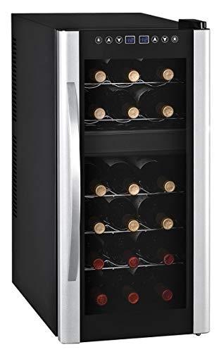 18 Flaschen 2 Zonen Weinkühlschrank