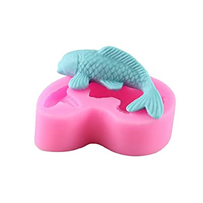 MoeMall 3D Fish Shape Silicone Fondant Cake Mold Home Kitchen Baking Sculpting & Modeling Tools