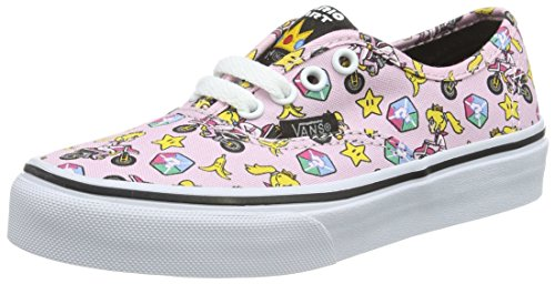 Vans Unisex-Kinder Authentic Low-Top, Pink ((Nintendo) Princess Peach/Motorcycle), 33 EU
